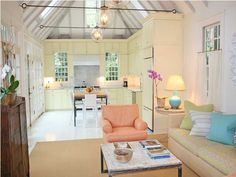 I love so much about truism from the high ceiling to the pastel colours and the open plan features! xxx