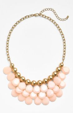 Pretty coral teardrop bead necklace for summer.