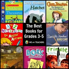 Best Books for Grades 3-5~  This teacher-selected list has a link to a full-length Amazon.com description.  Great ideas for stocking a classroom library or putting together a summer reading list!