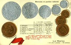 Morocco Coinage & Flag World Coins, Morocco, Flag, Money, Personalized Items, Science, Flags, Silver