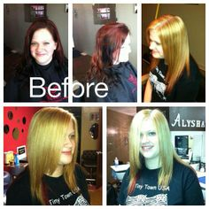 From red and black to blonde and a red peekaboo!