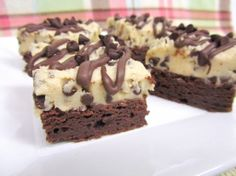 Chocolate Chip Cookie Dough Brownies- yes please!