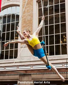 Pretty trapeze pose - Pendulum Aerial Arts  Can't wait to be able to do this. The strength the bravery.