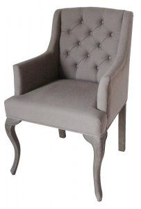 Belgian Tufted Linen Arm-Chair [DOV350] - $595.00 :: 22 BOND ST. - HOME SEXY HOME