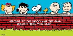 Snoopy & The Gang Website