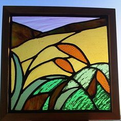 Stained Glass Panel - Cornfield at Sunset £60.00