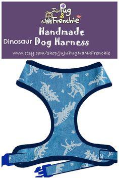 Dinosaur dog harness, Boy dog harness, Handmade custom dog harness #pugharness #dogharness #Frenchbulldog #Frenchieharness Dog Harness, Dog Leash, Os Pets, Big Dog Little Dog, Mesh Laundry Bags, Boy Dog, Medium Dogs, Pet Accessories, Large Dogs