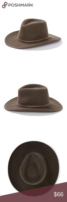 a460152e045 NWT Stetson Gallatin Sage Green Crushable Hat