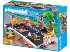 Playmobil Road Construction Set by Playmobil. $37.99. 13.8 x 9.8 x 3.9 inches. The road is extendable with asphalt from 4044 and 4048.