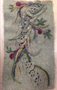 Sample of embroidery & embellishment from Clarie's Coat from The Search (Episode 114)