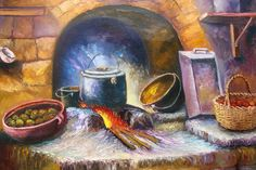 quispejo pinturas - Buscar con Google Rajasthani Art, Diego Rivera, Old Kitchen, Prismacolor, Kitchen Colors, Oil Painting On Canvas, Art Oil, Still Life, Countryside