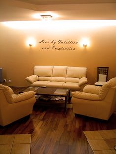 Therapy office...love the furniture, paint color, and lighting.