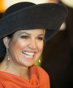 Dutch Queen Maxima visits the Veenkoloniaal Museum on 17.02.2015 in Veendam, The Netherlands