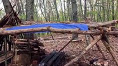 Summer shelter complete with a bow drill blessing