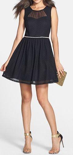 Textured skater dress  http://rstyle.me/n/d9iwrnyg6