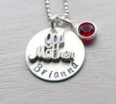 Godmother Birthstone Personalized Hand Stamped Necklace for sandy Little Baby Girl, Little Babies, Boy Or Girl, Baby Kids, Baby Boy, Carrie Lynn, Gender Party, Parenting Done Right, Gift From Heaven