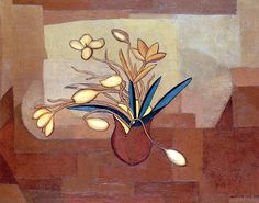 'Still Life In Ochre', 1930 - Amelia Peláez(1896–1968)