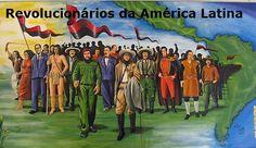 """Revolucionarios de América Latina. Granada, Nicaragua.Pintura: """"Principales Revolucionarios de América Latina""""   Sandino in the front, where he should be."""