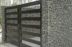 diy gabion fence - Google Search