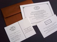 wedding invitations | Design + Print: train-inspired wedding invitations