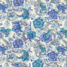 Blue Grapes Florentine Print Paper ~ Rossi Italy