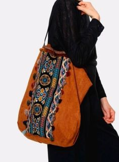 Sac Meisie brodé Bucket Bag, Online Business, Bohemian Accessories, Bag, Embroidery