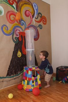 Great idea for Dinosaur party, but not to sure how to build this volcano?