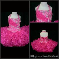 Wholesale Flower Girl Dresses - Buy Halter Top Little Rosie Cupcake Dress Lovely Glitz Toddler Pageant Dress Flower Girl Gown Kids Prom Dresses SR262, $90.99   DHgate