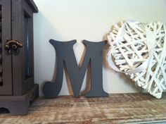 Handpainted Wooden Wall Letter - M - Victorian Style - 6 inch £5.00