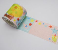 Party Owl and Friends Washi Tape - Note Washi Tape - Wide Washi
