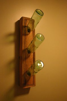 Wall Mounted Cedar Wine Rack