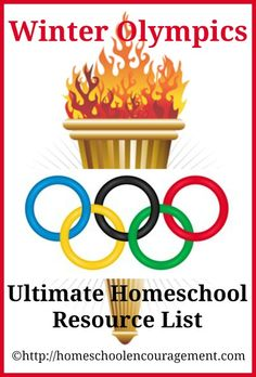 In anticipation of Winter Olympics excitement in your homeschool, I bring you the Ultimate #Homeschool Resource List. from #HomeschoolEncouragement