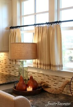 Modern Window Treatments Kitchen Window Treatments, Modern Window Treatments, Burlap Window Treatments, Nursery Curtains, Boho Curtains, Drop Cloth Curtains, Ikea Curtains, Rustic Curtains, Short Curtains