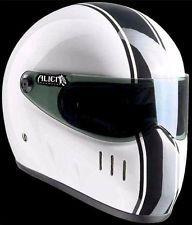 Alien / Bandit Helmet XXR Classic Race Edition white with black stripes in XL