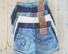 VINTAGE LEVIS SHORTS denim high waisted hotpants vtg cool cut off womens bottoms retro summer tumblr hipster fashion xs s m l 6 8 10 12 14