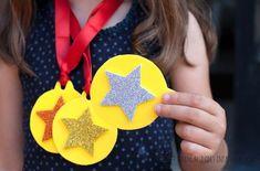 Medallas para niños en goma eva