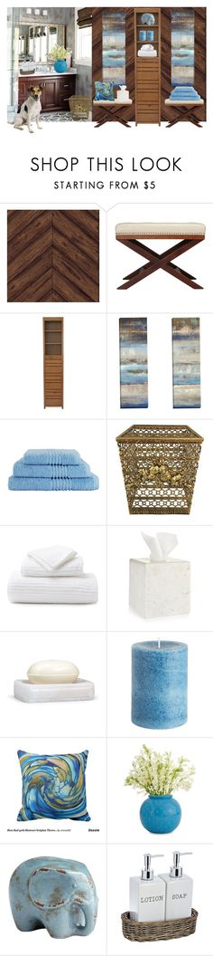 """BATH DECOR"" by paula-parker ❤ liked on Polyvore featuring interior, interiors, interior design, home, home decor, interior decorating, Tempaper, Cortesi Home, Pigeon & Poodle and Hotel Collection"