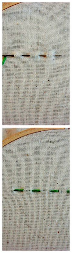 8.RUNNING STITCH    A running stitch is very easy to make. There is nothing complicated about it. You just make the thread go wherever the design is made and it will come out to look as amazing as ever.