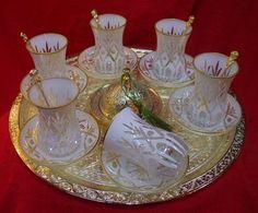 White Turkish tea set