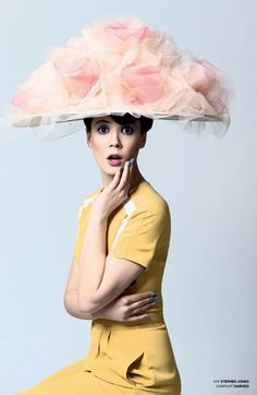 Stephen Jones -  Grandiflora S/S14 'Carte Blanche' Collection. #millinery #judithm #hats