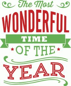 Silhouette Design Store - View Design #70150: the most wonderful time of the year