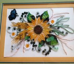 Sunflower project my cousin made for her sis. Absolutely beautiful!!!