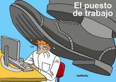 Puesto de trabajo! #Viñeta #Humor