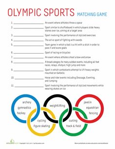 Worksheet Physical Education Worksheets For Middle School olympic games game and the ojays on pinterest worksheets sports