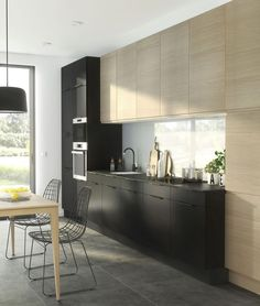Une cuisine design tout en longueur