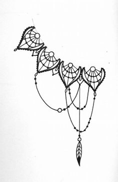 Except make it more like lace, less like spider web. The circles into gems. and add more chains. #dream_catcher_hip_tattoo
