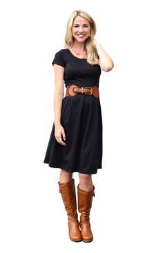 Mikarose Knee-Length Short Sleeve Dress - Ivy - Navy sz M #mikarosewish