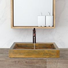 Belzoni Rectangular Cast Concrete Vessel Sink - Vintage Brown – Magnus Home Products Concrete Bathroom, Vessel Sink Bathroom, Pedestal Sink, Vanity Sink, His And Hers Sinks, Home Furnishing Stores, Glass Sink, Cement Crafts, Crackle Glass