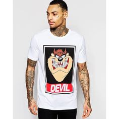 Discover men's t-shirts and vests at ASOS. Shop from plain, printed and long sleeve t-shirts and vests to longline and oversized styles with ASOS. Tee Shirt Homme, T Shirt Vest, Men's Shirts, Looney Tunes, Shirt Designs, Cool Outfits, Menswear, Mens Fashion, Tatoo