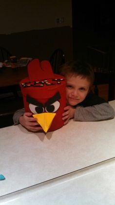 Angry bird Valentine Box!